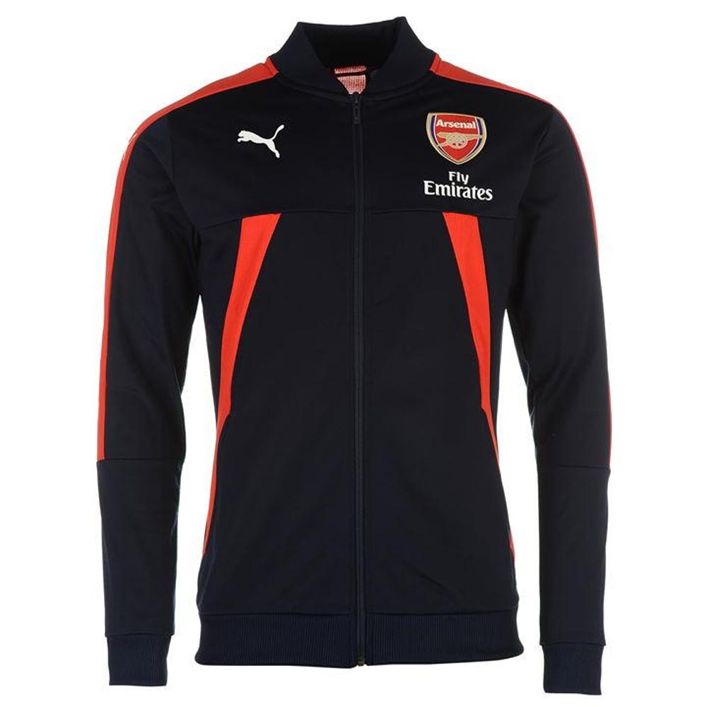 20162017 Arsenal Puma Stadium Jacket (PeacotRed)