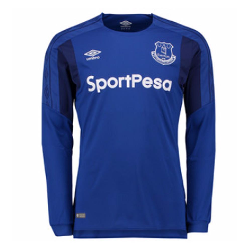 2017-2018 Everton Umbro Home Long Sleeve Shirt