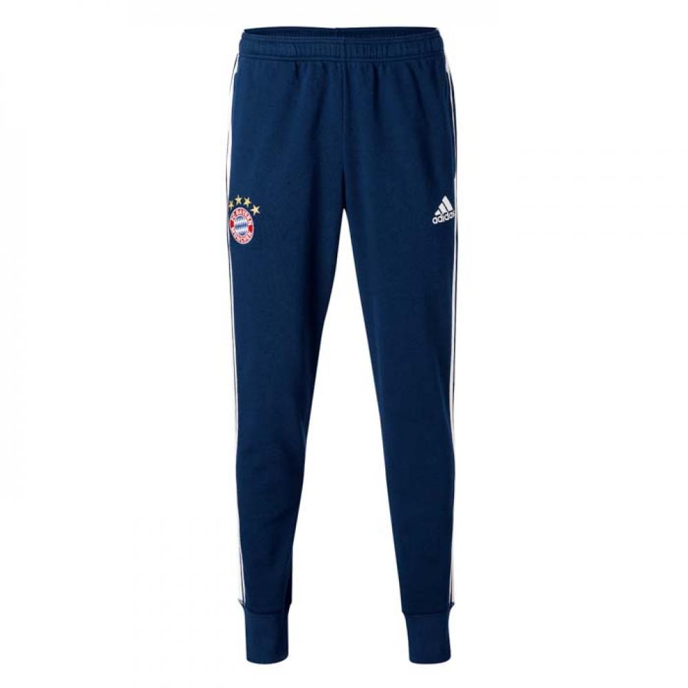 2017-2018 Bayern Munich Adidas Sweat Pants (Navy)