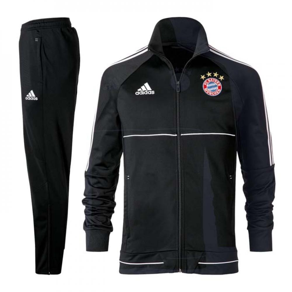 2017-2018 Bayern Munich Adidas PES Tracksuit (Black)