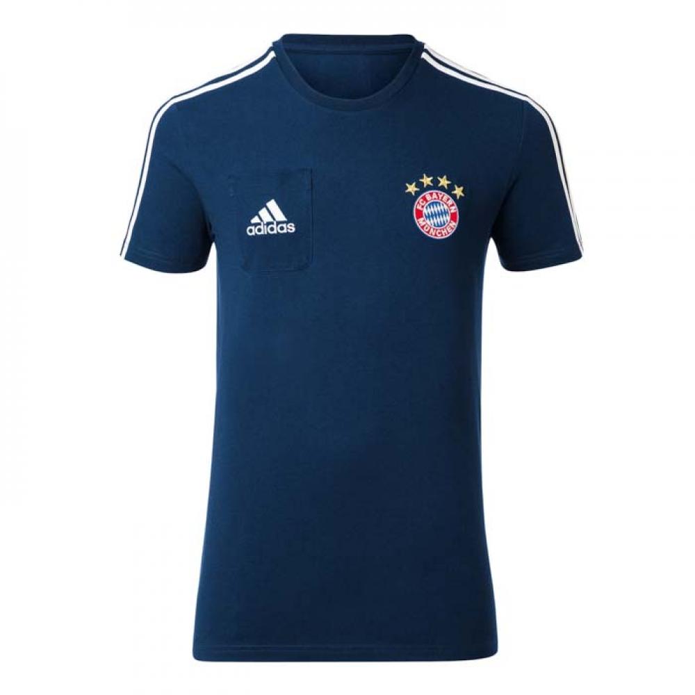 2017-2018 Bayern Munich Adidas Training Tee (Navy)