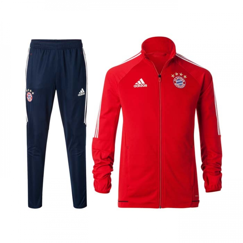 2017-2018 Bayern Munich Adidas Training Suit (Red) - Kids