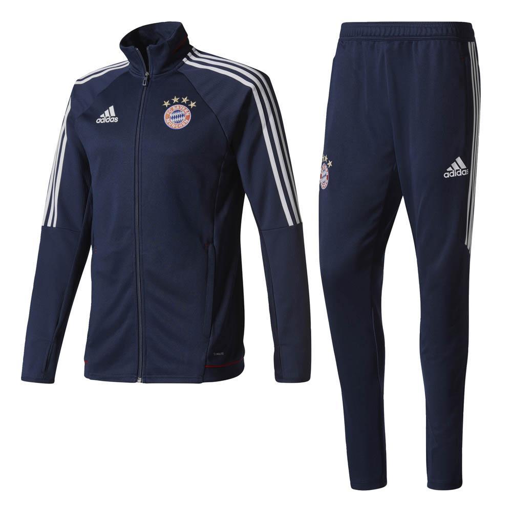 2017-2018 Bayern Munich Adidas Training Suit (Navy)