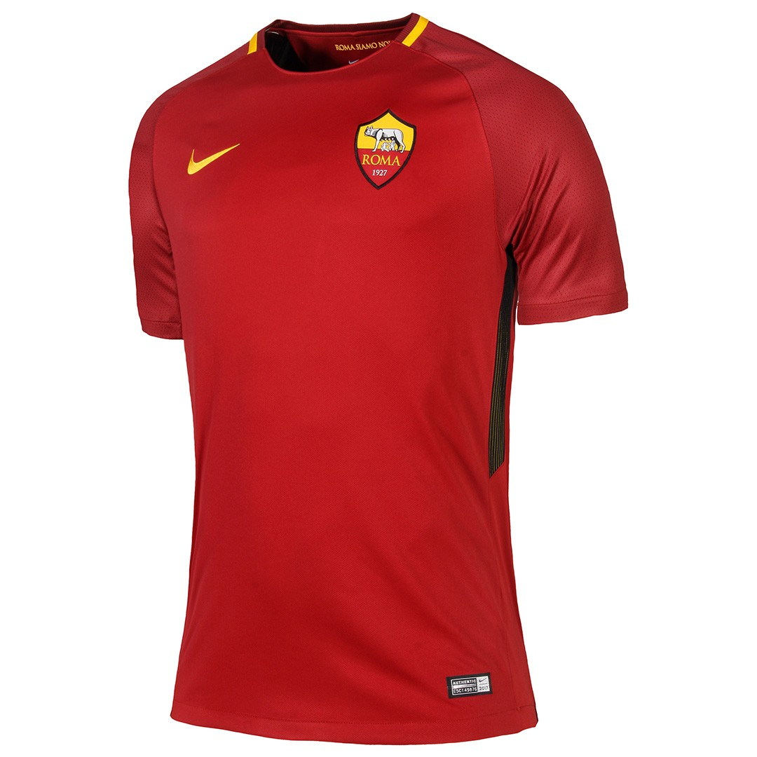 2017-2018 AS Roma Home Nike Football Shirt