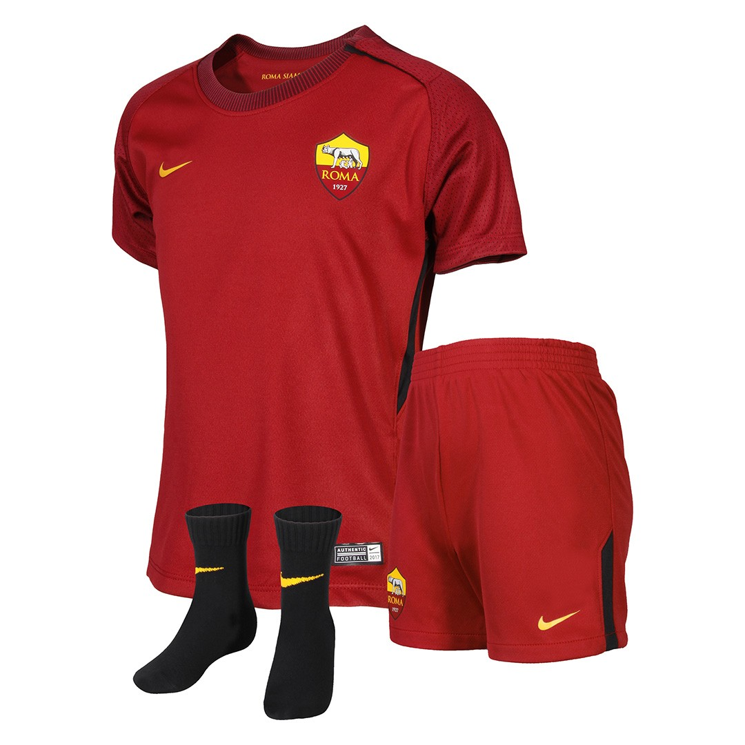 2017-2018 AS Roma Home Nike Infants Kit