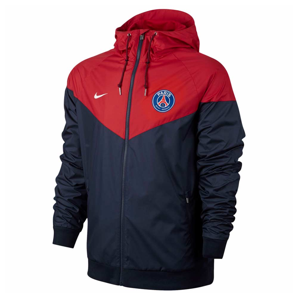 2017-2018 PSG Nike Authentic Windrunner Jacket (Navy)