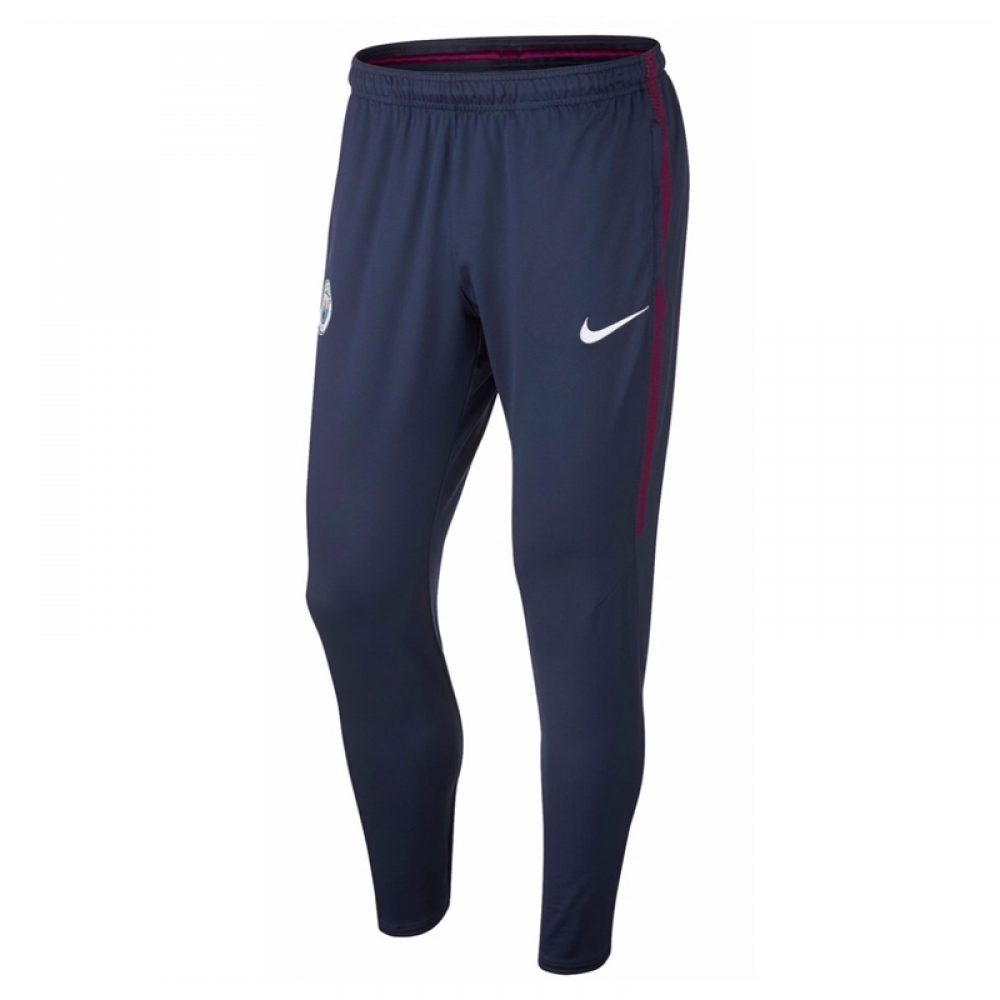 2017-2018 Man City Nike Squad Training Pants (Navy)