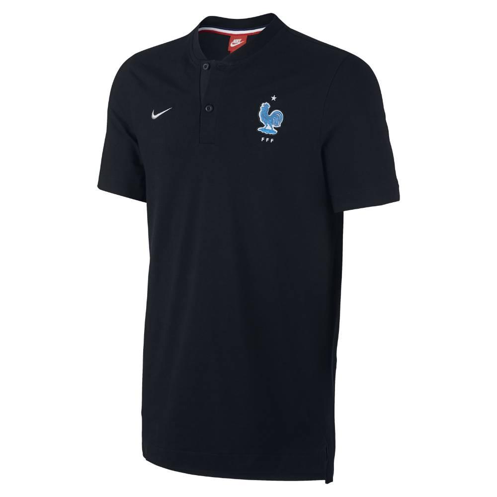2017-2018 France Nike Authentic GS Slim Polo Shirt (Black)
