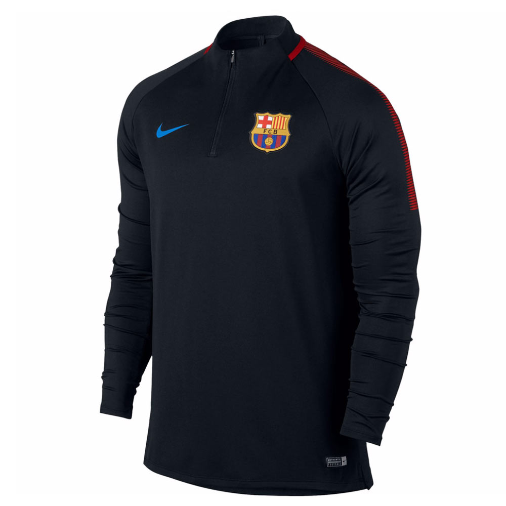 2017-2018 Barcelona Nike Drill Training Top (Black)
