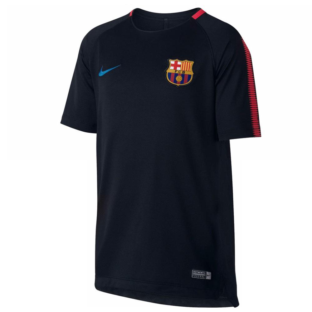 2017-2018 Barcelona Nike Training Shirt (Black)