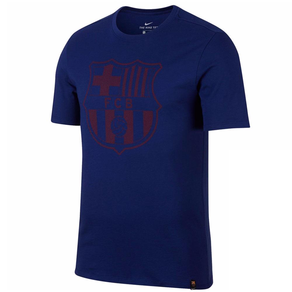 2017-2018 Barcelona Nike Core Crest T-Shirt (Royal)
