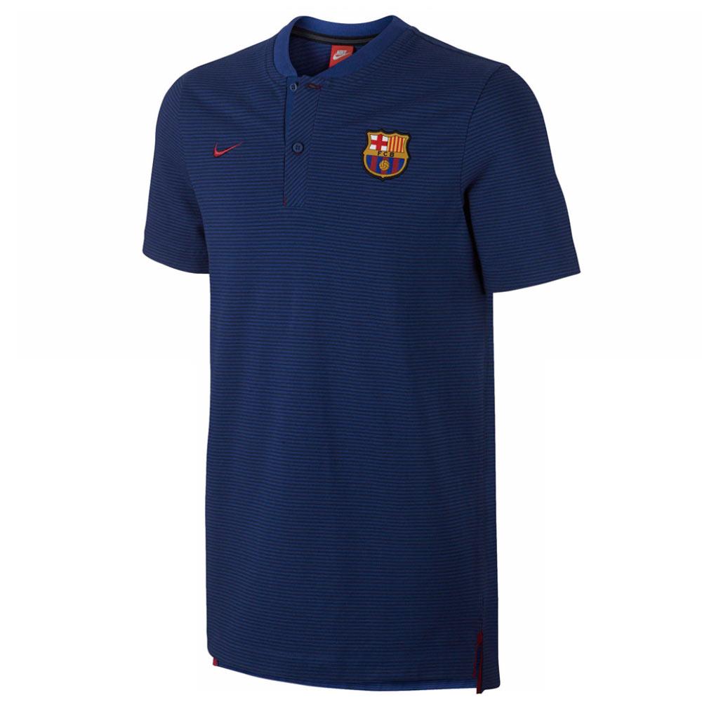 2017-2018 Barcelona Nike Authentic Polo Shirt (Royal)