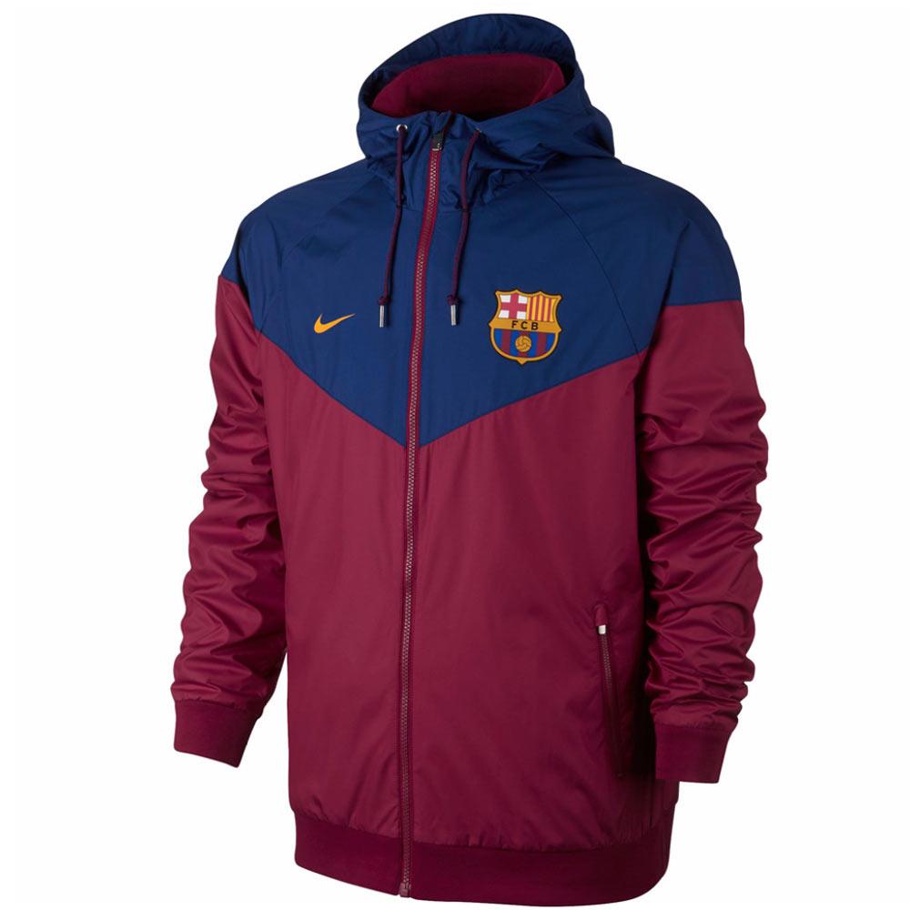 2017-2018 Barcelona Nike Authentic Windrunner Jacket (Red)