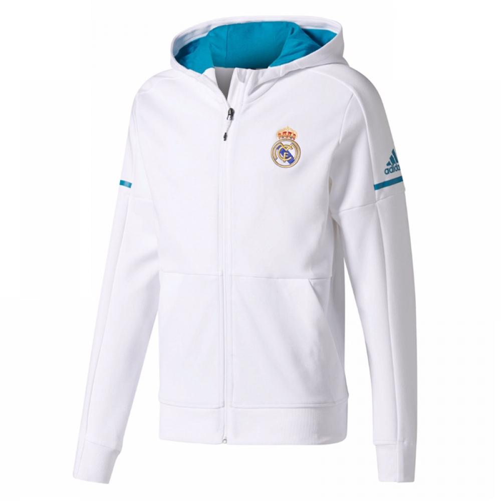 2017-2018 Real Madrid Adidas Anthem Jacket (White)