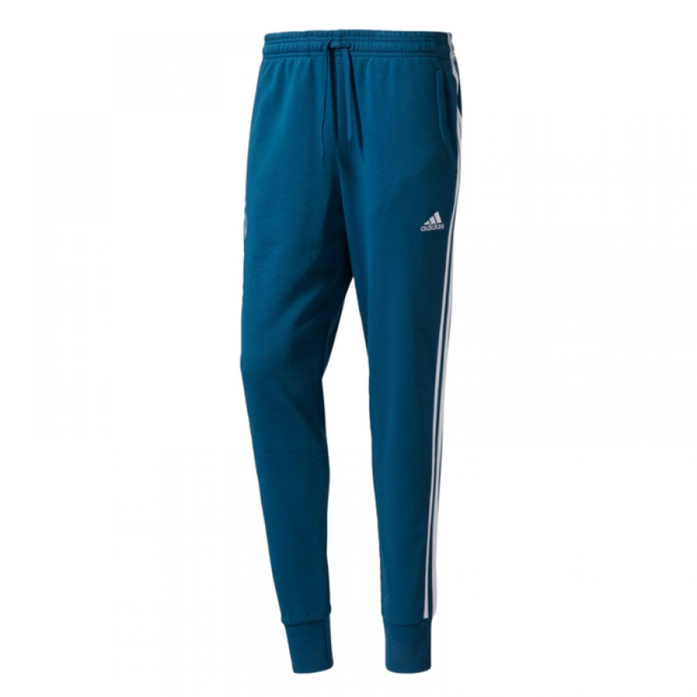 2017-2018 Real Madrid Adidas 3S Sweat Pants (Dark Grey)