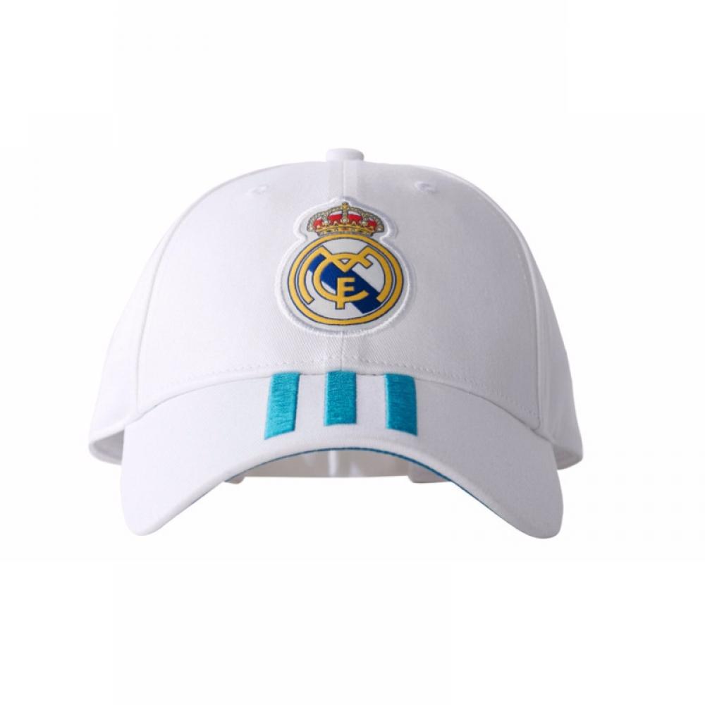 2017-2018 Real Madrid Adidas 3 Stripe Baseball Cap (White)