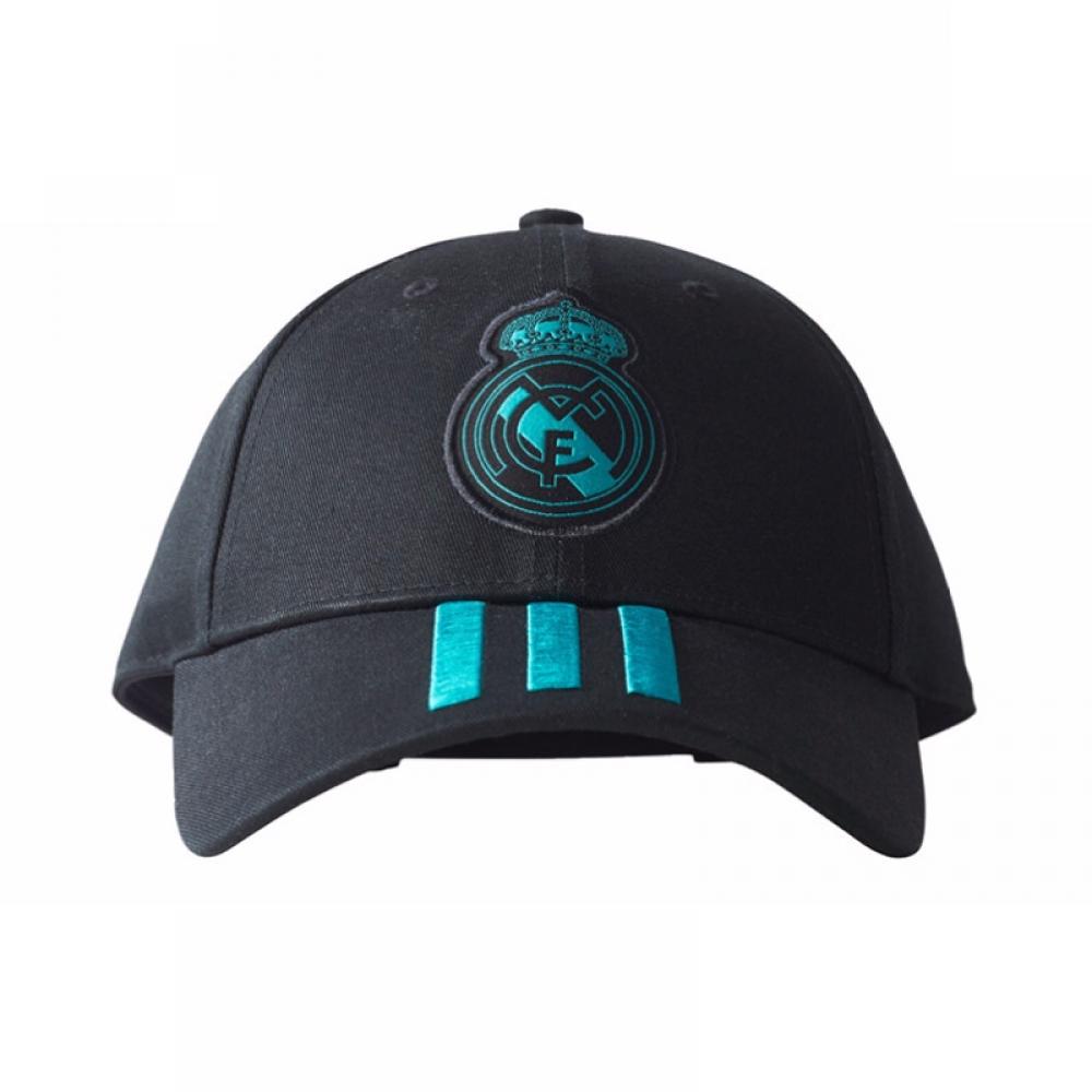 2017-2018 Real Madrid Adidas 3 Stripe Baseball Cap (Black)