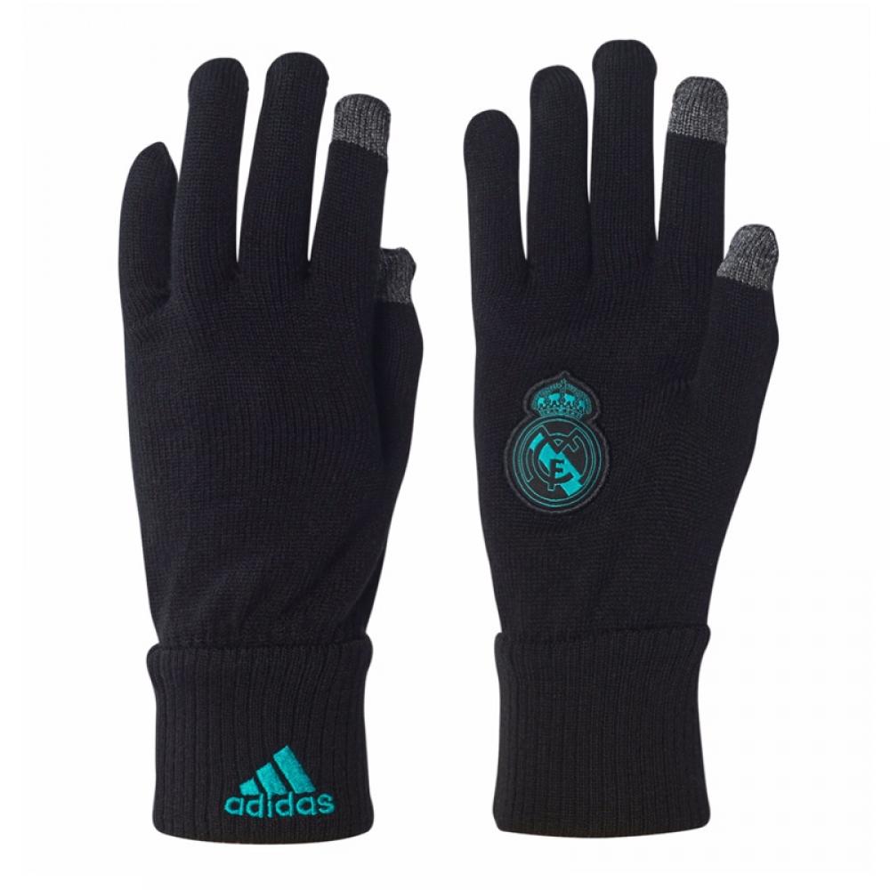 2017-2018 Real Madrid Adidas Gloves (Black)