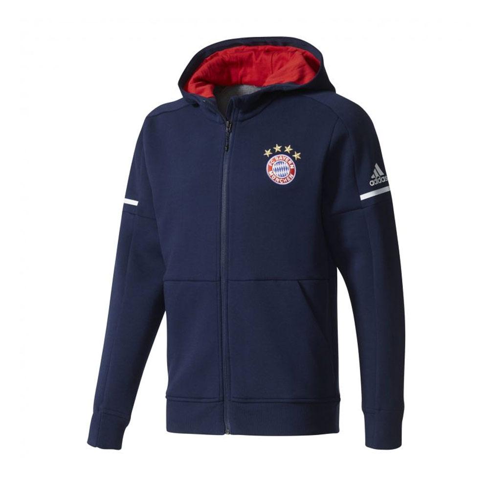 2017-2018 Bayern Munich Adidas Anthem Jacket (Navy)