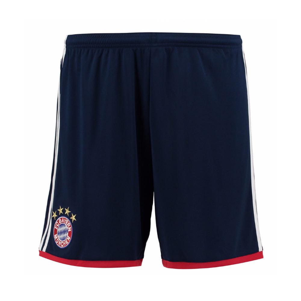 2017-2018 Bayern Munich Adidas Away Shorts (Navy) - Kids