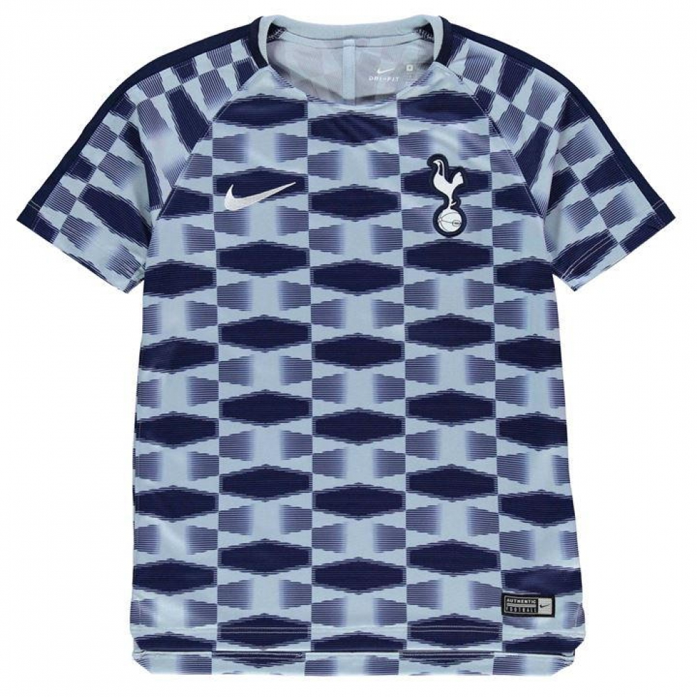 2017-2018 Tottenham Nike Pre-Match Training Shirt (Blue) - Kids