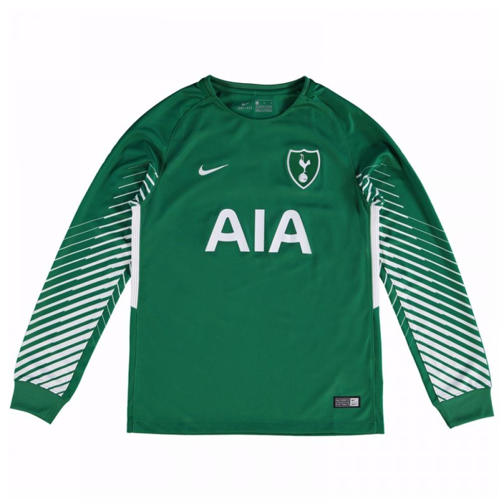 2017-2018 Tottenham Away Nike Goalkeeper Shirt (Green) - Kids