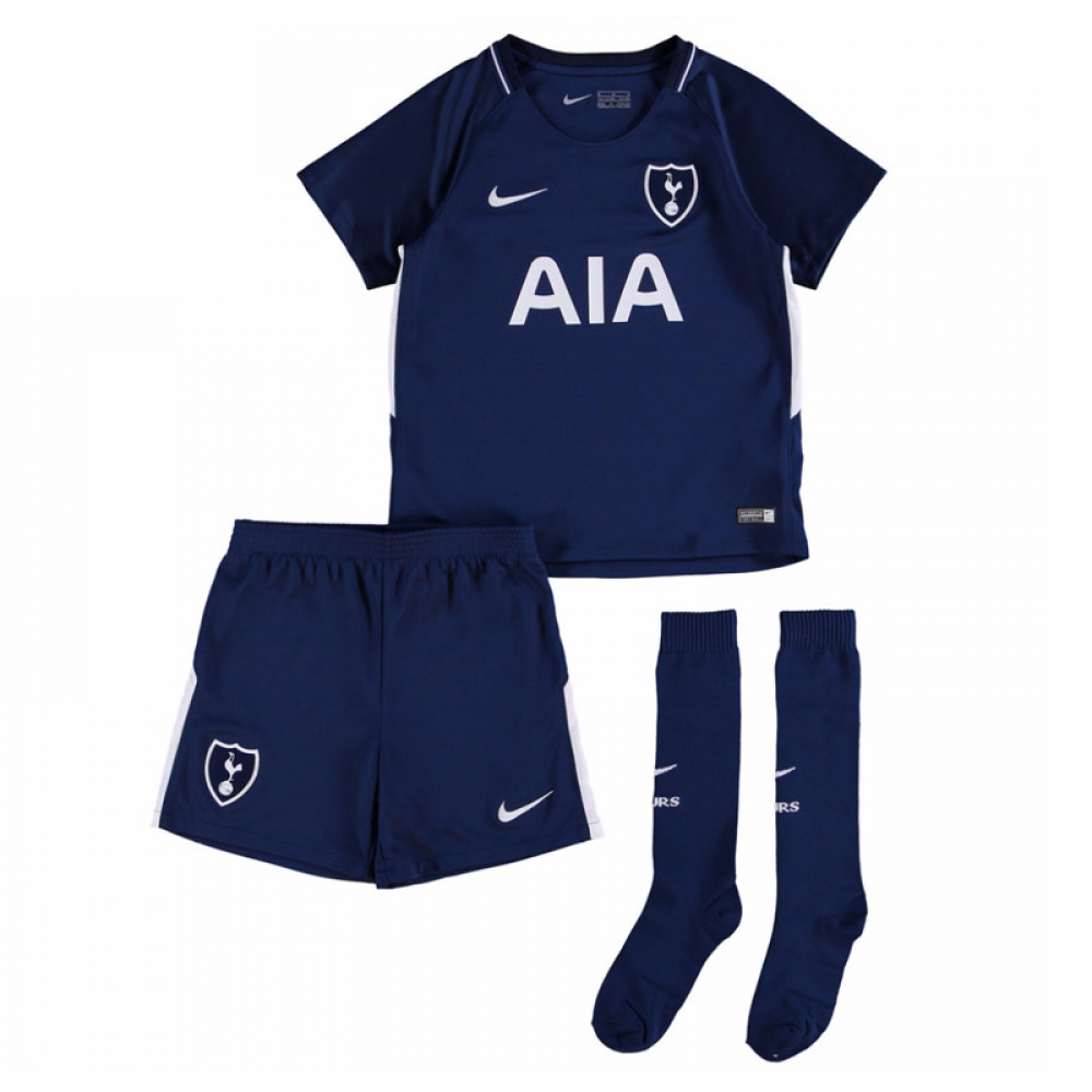 2017-2018 Tottenham Away Nike Little Boys Mini Kit