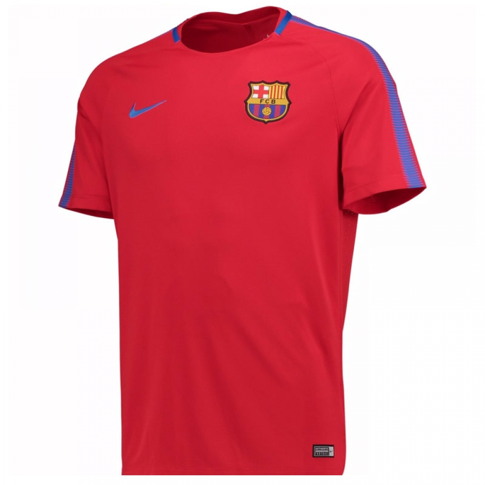2017-2018 Barcelona Nike Training Shirt (Red)