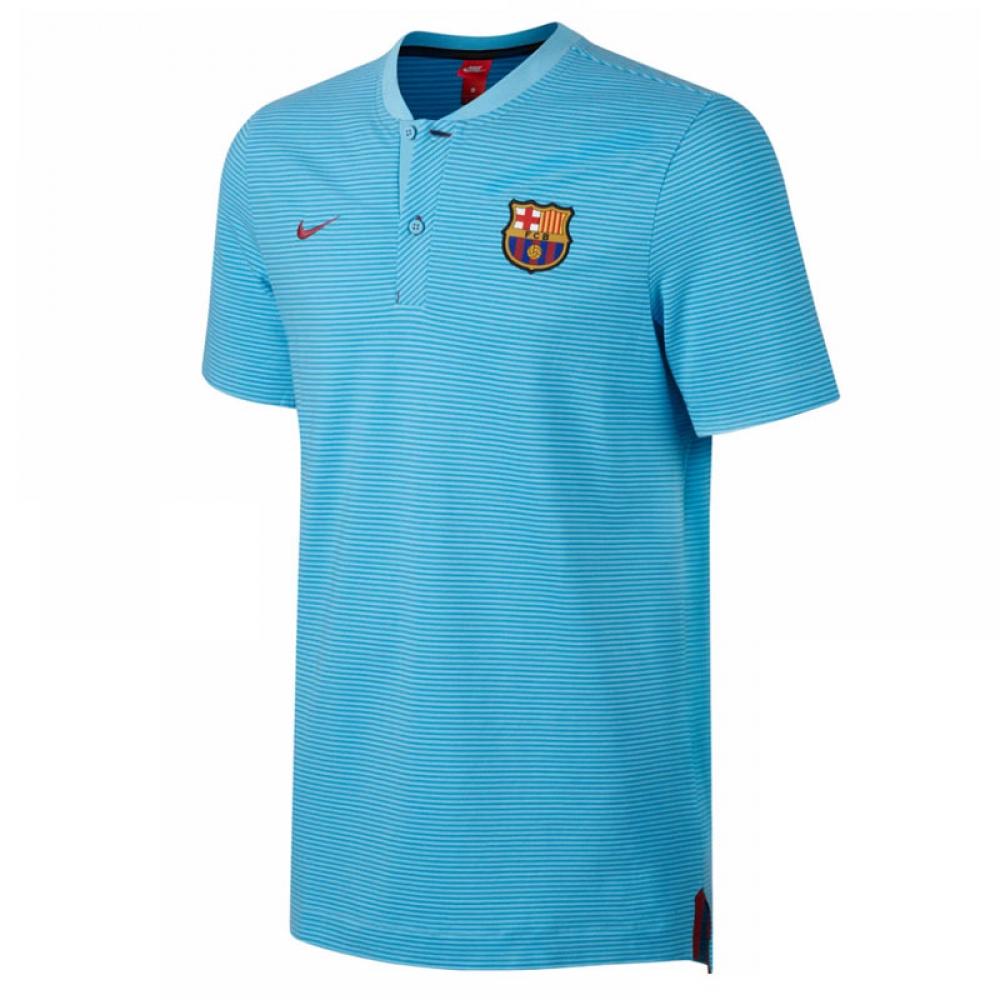 2017-2018 Barcelona Nike Authentic Polo Shirt (Blue)