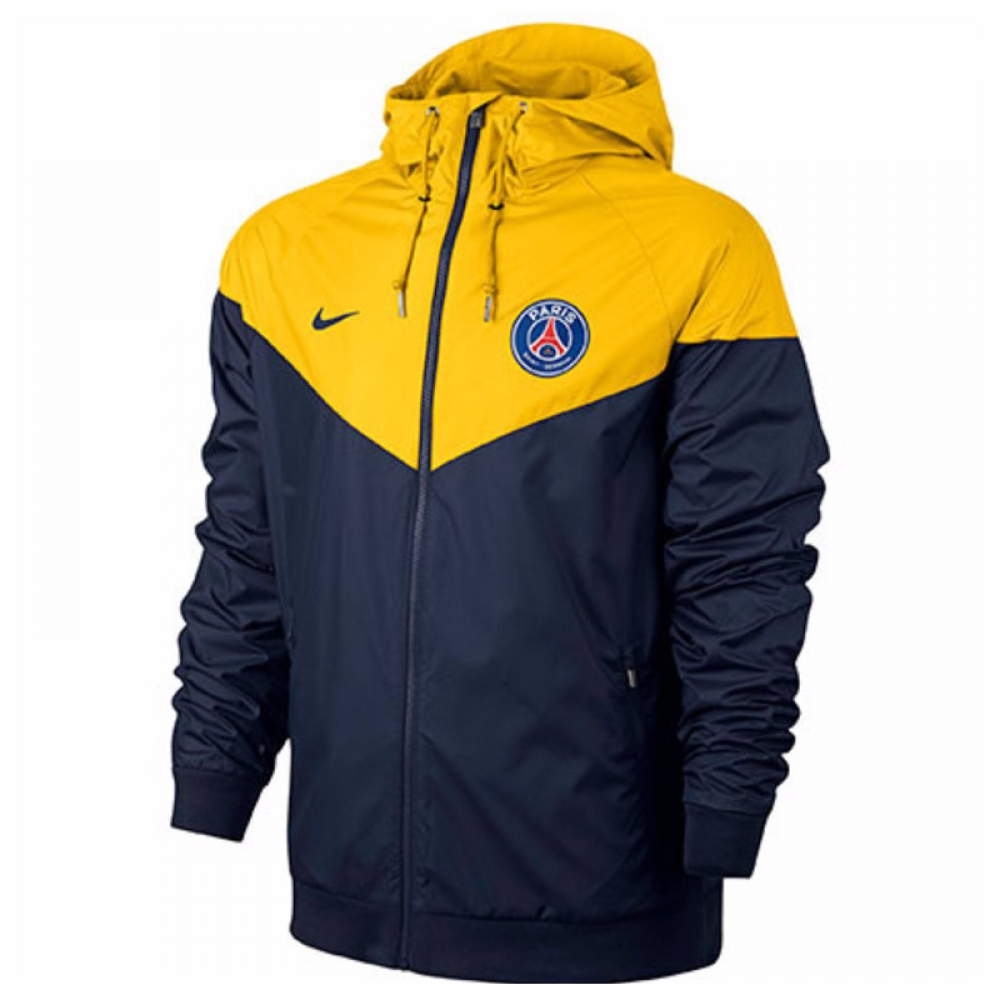 2017-2018 PSG Nike Authentic Windrunner Jacket (Yellow)