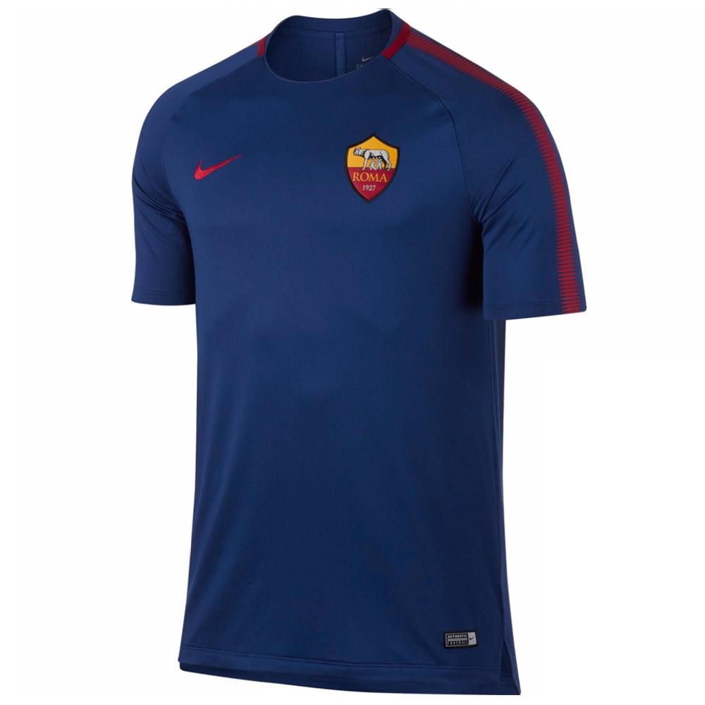 2017-2018 AS Roma Nike Training Shirt (Royal Blue)