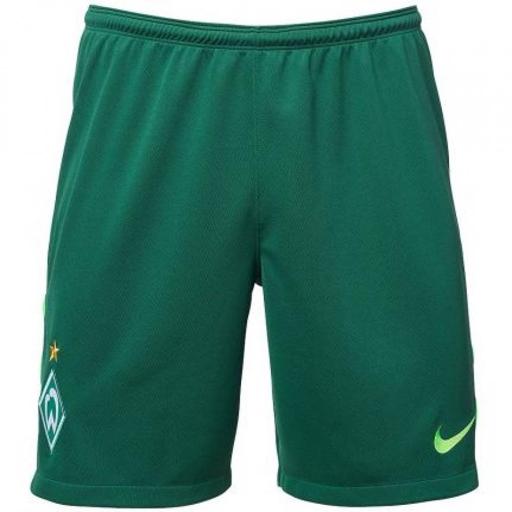 2017-2018 Werder Bremen Nike Home Shorts (Green)