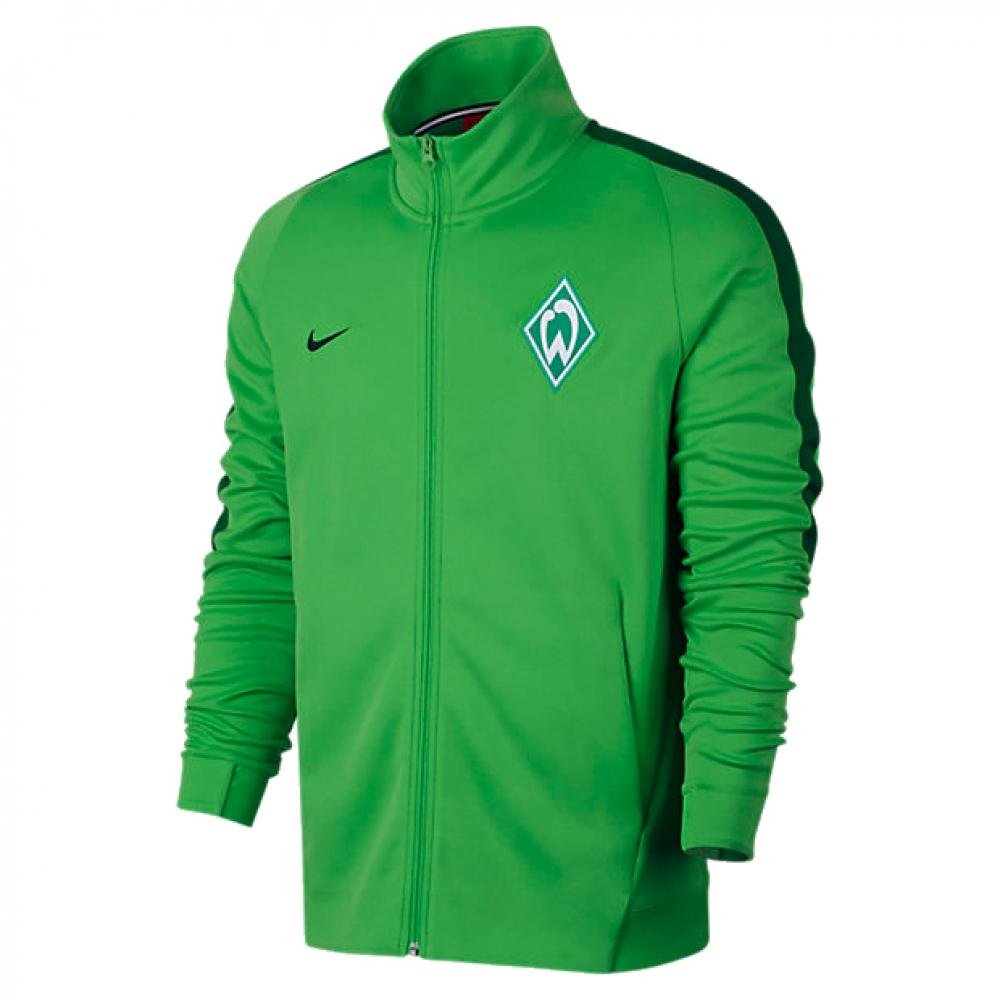2017-2018 Werder Bremen Nike Authentic Franchise Jacket (Green)