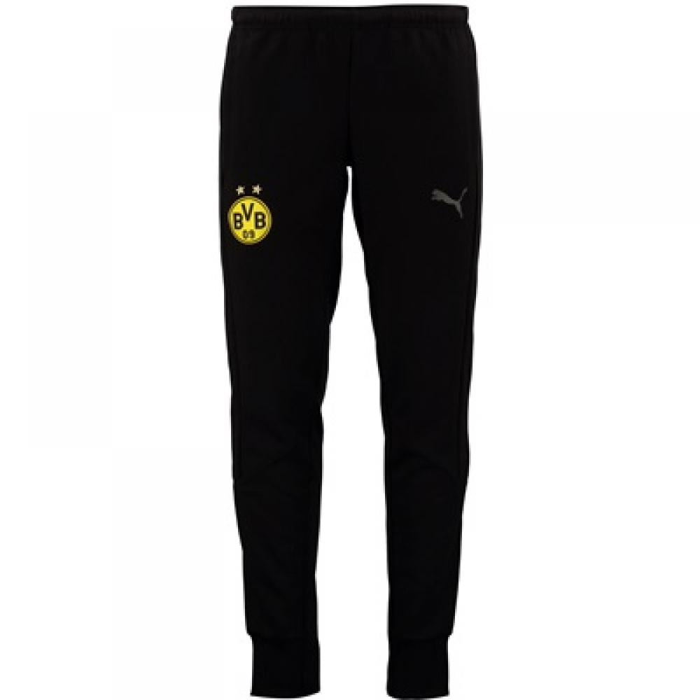 2017-2018 Borussia Dortmund Puma Casuals Sweat Pants (Black)