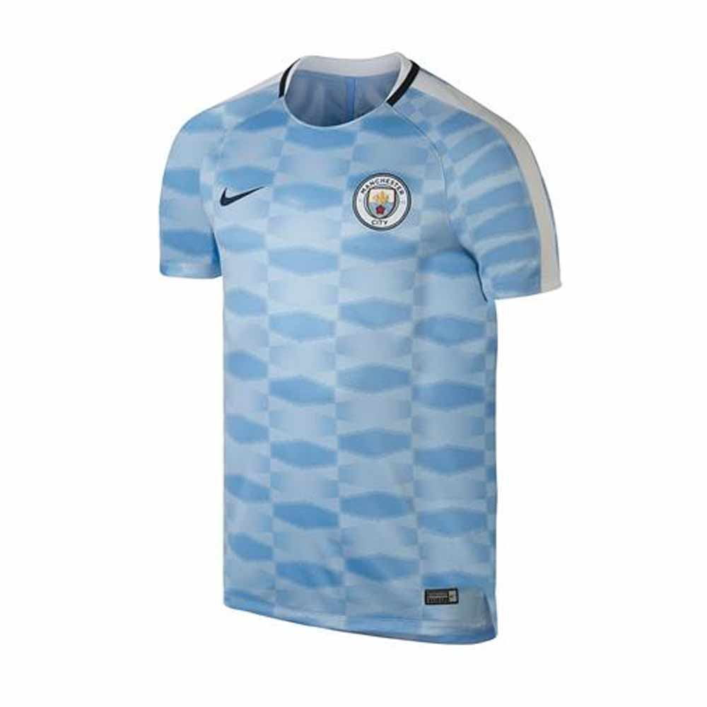 2017-2018 Man City Nike Pre-Match Training Shirt (Field Blue)