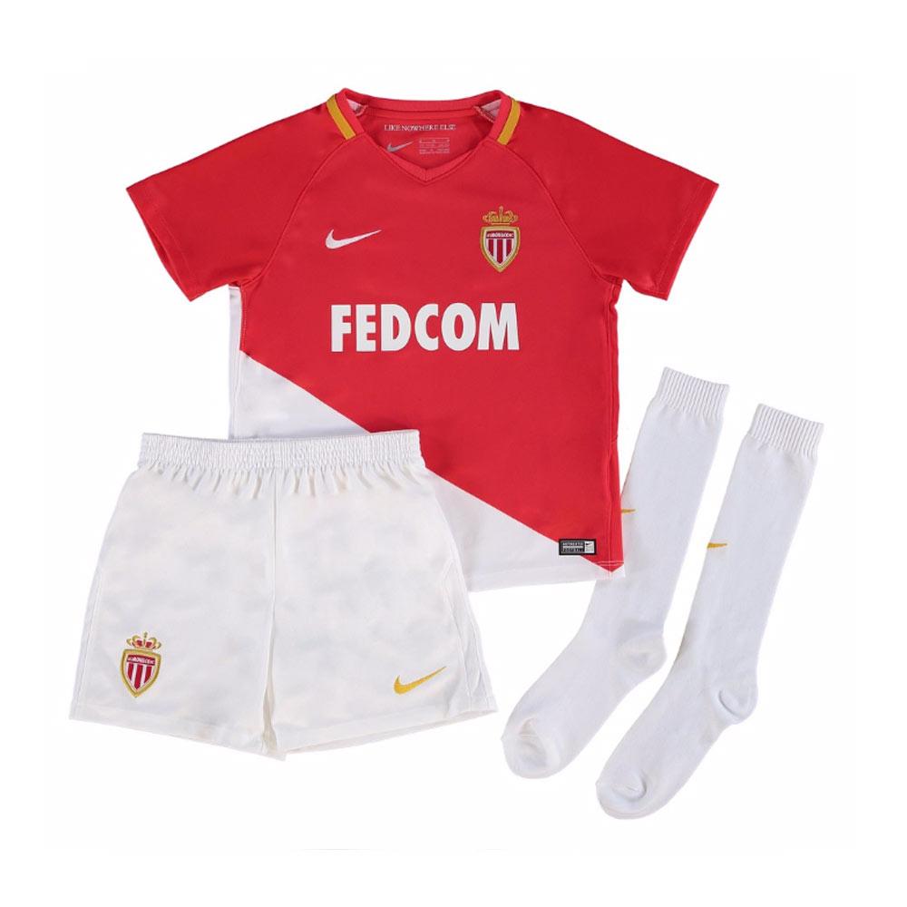 2017-2018 Monaco Home Nike Little Boys Mini Kit