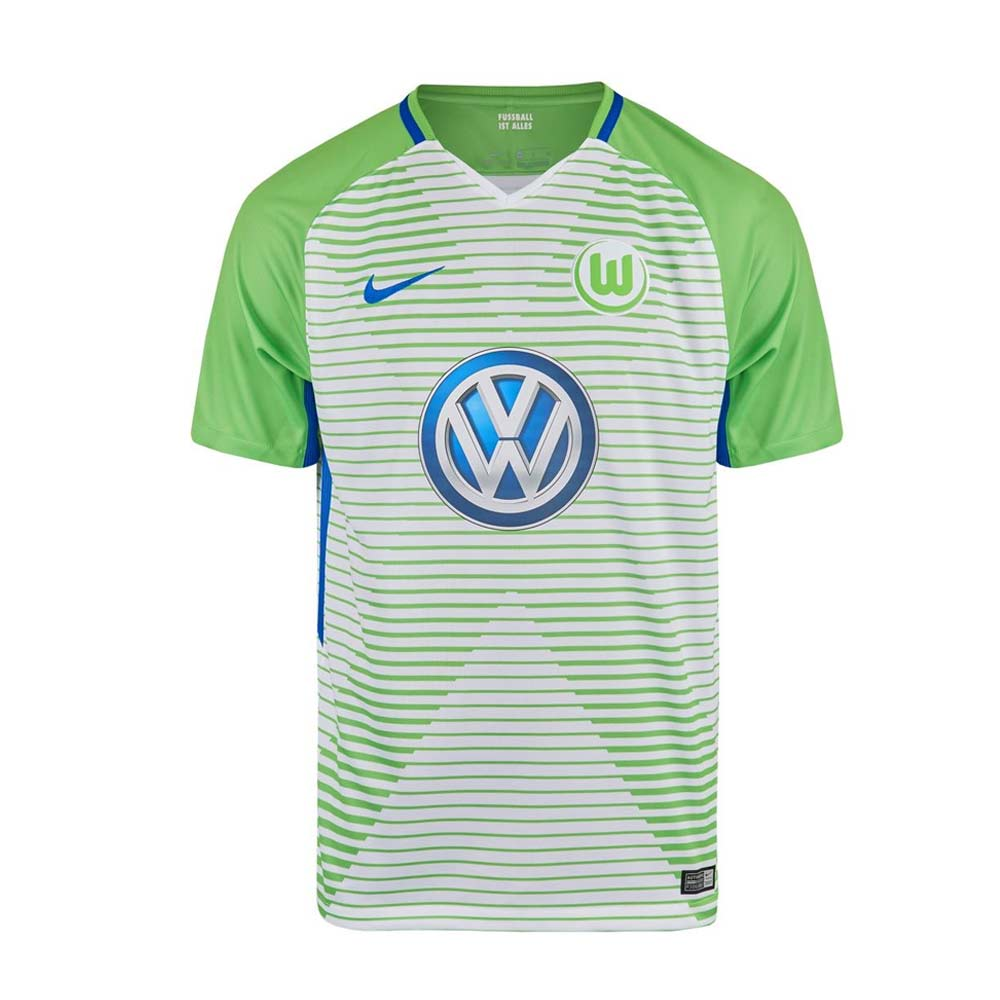2017-2018 VFL Wolfsburg Home Nike Football Shirt