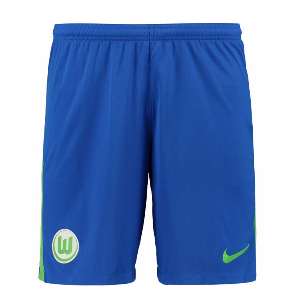 2017-2018 VFL Wolfsburg Nike Away Shorts (Blue)