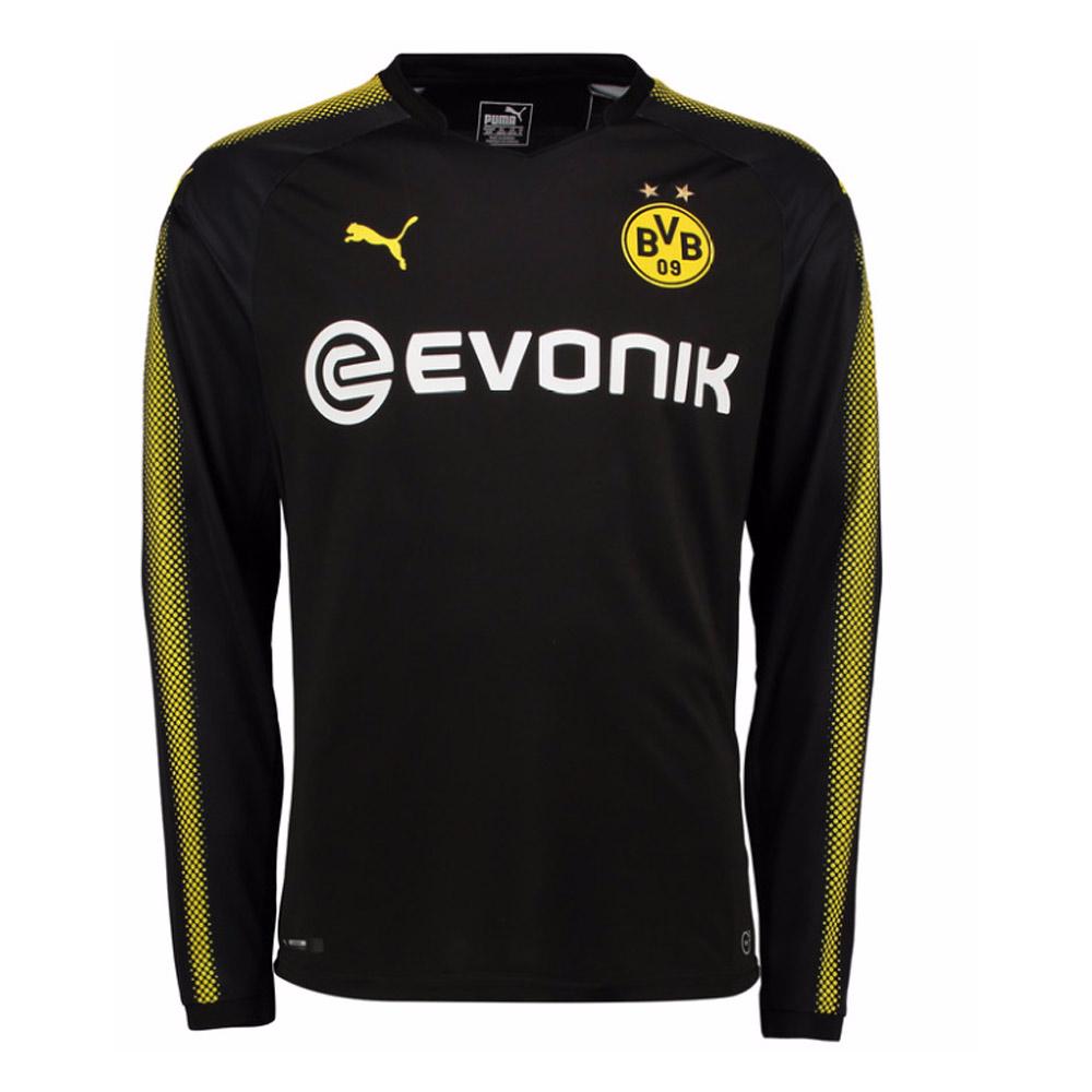 2017-2018 Borussia Dortmund Away Long Sleeve Puma Shirt