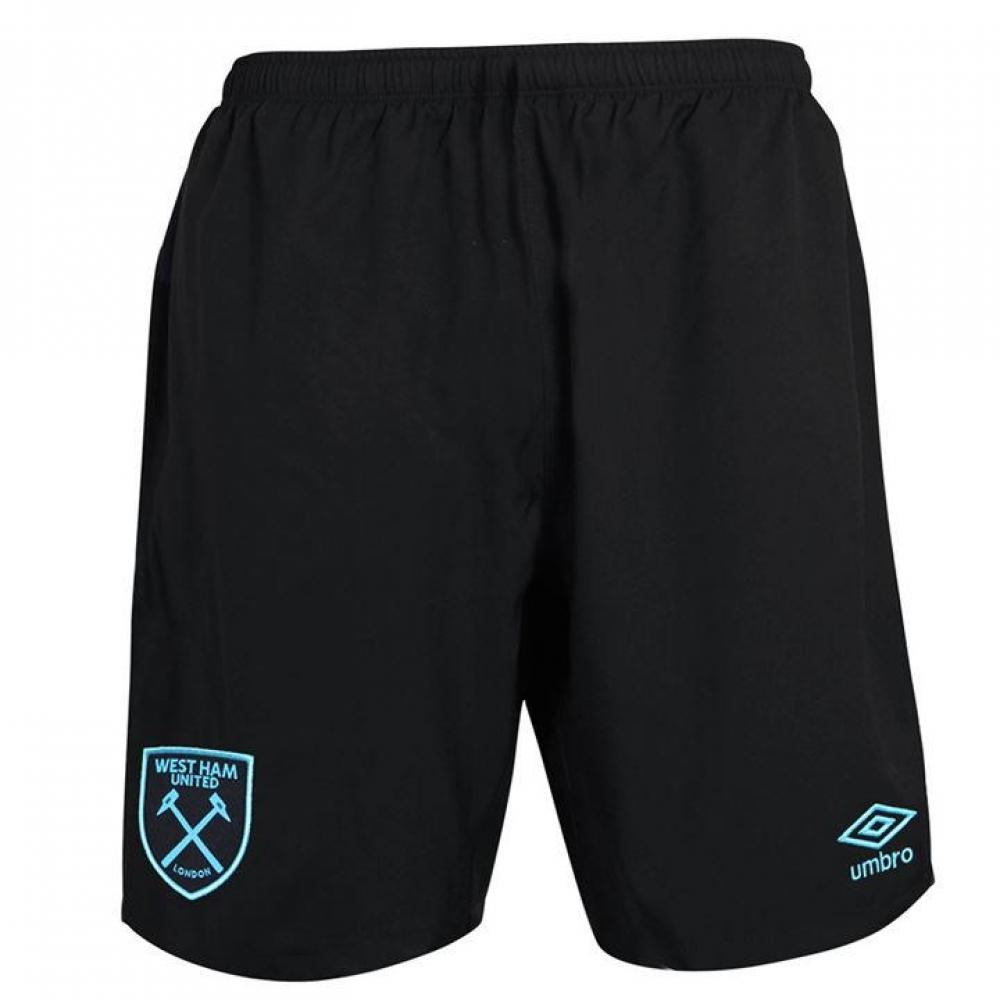 2017-2018 West Ham Away Football Shorts (Black)