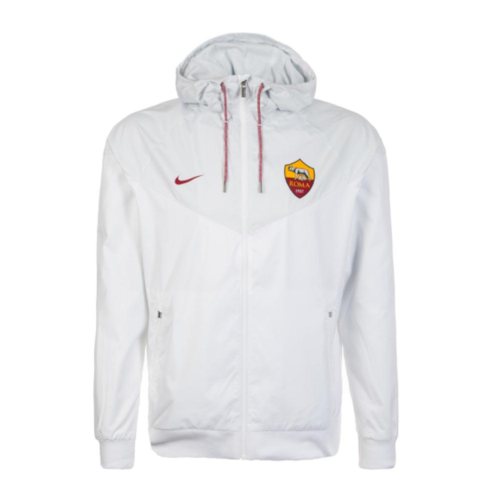 2017-2018 AS Roma Nike Authentic Windrunner Jacket (White)