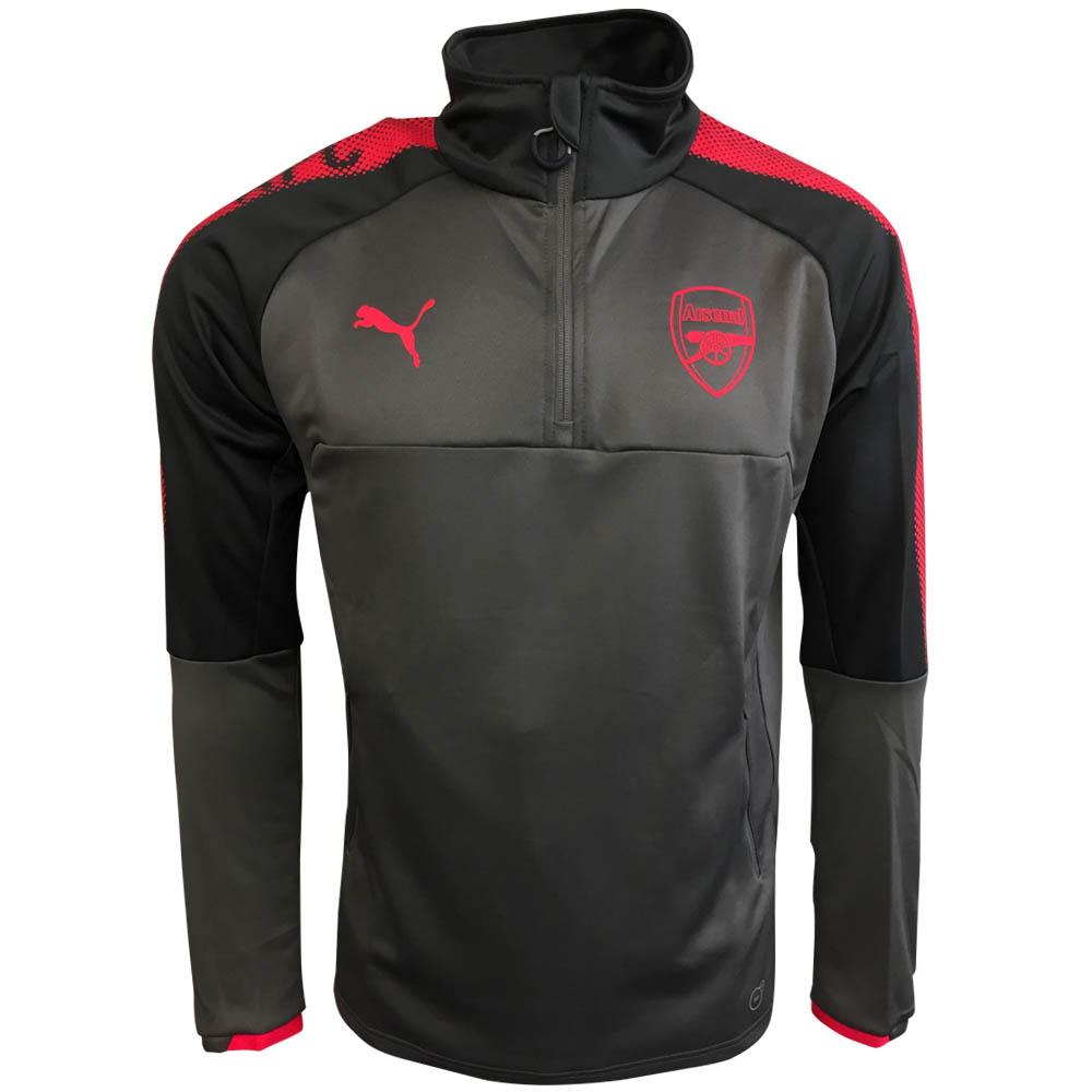 2017-2018 Arsenal Puma Half Zip Training Top (Steel Grey)