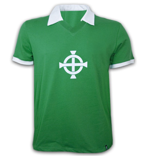Northern Ireland 1977 Short Sleeve Retro Shirt 100 cotton