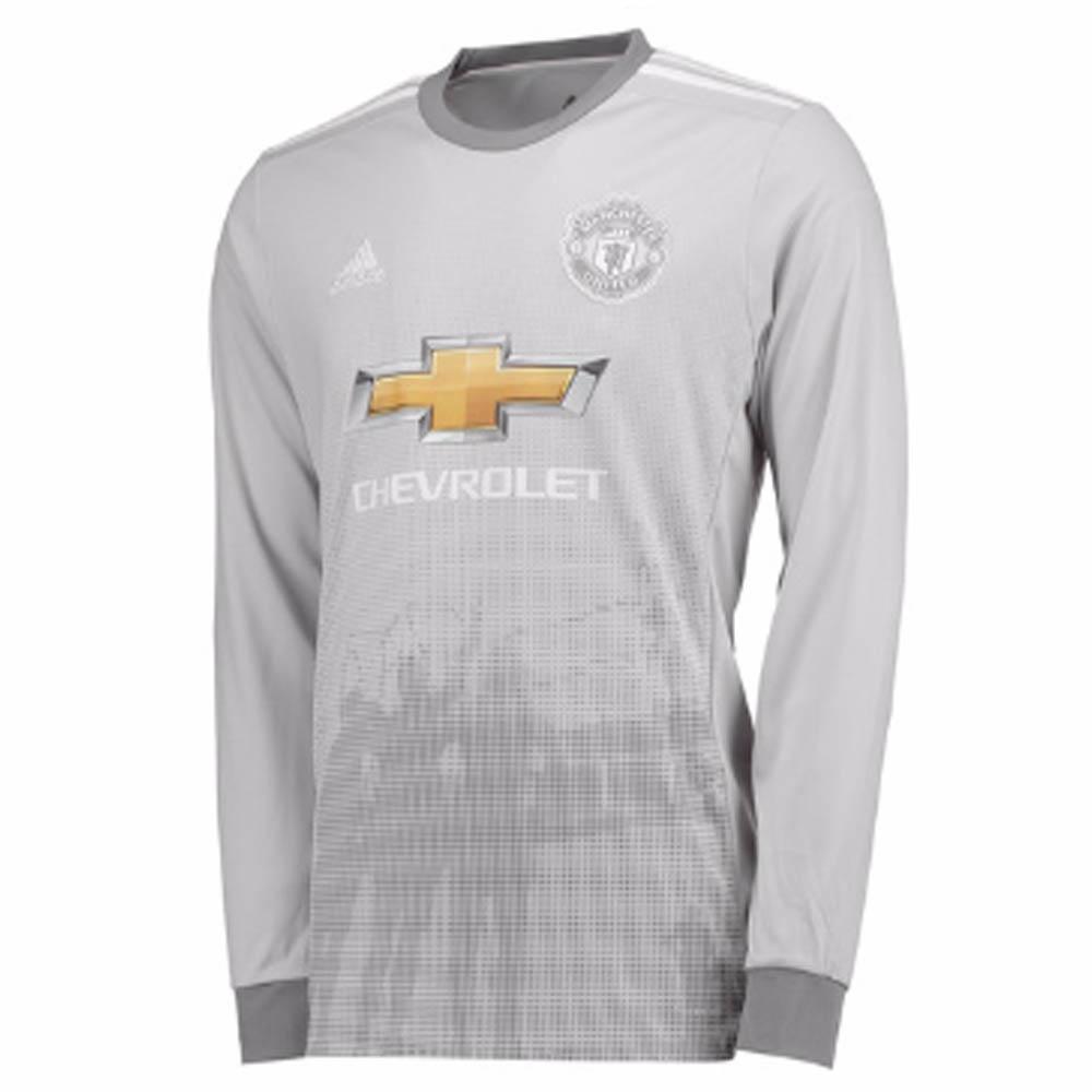 2017-2018 Man Utd Adidas Third Long Sleeve Shirt (Kids)
