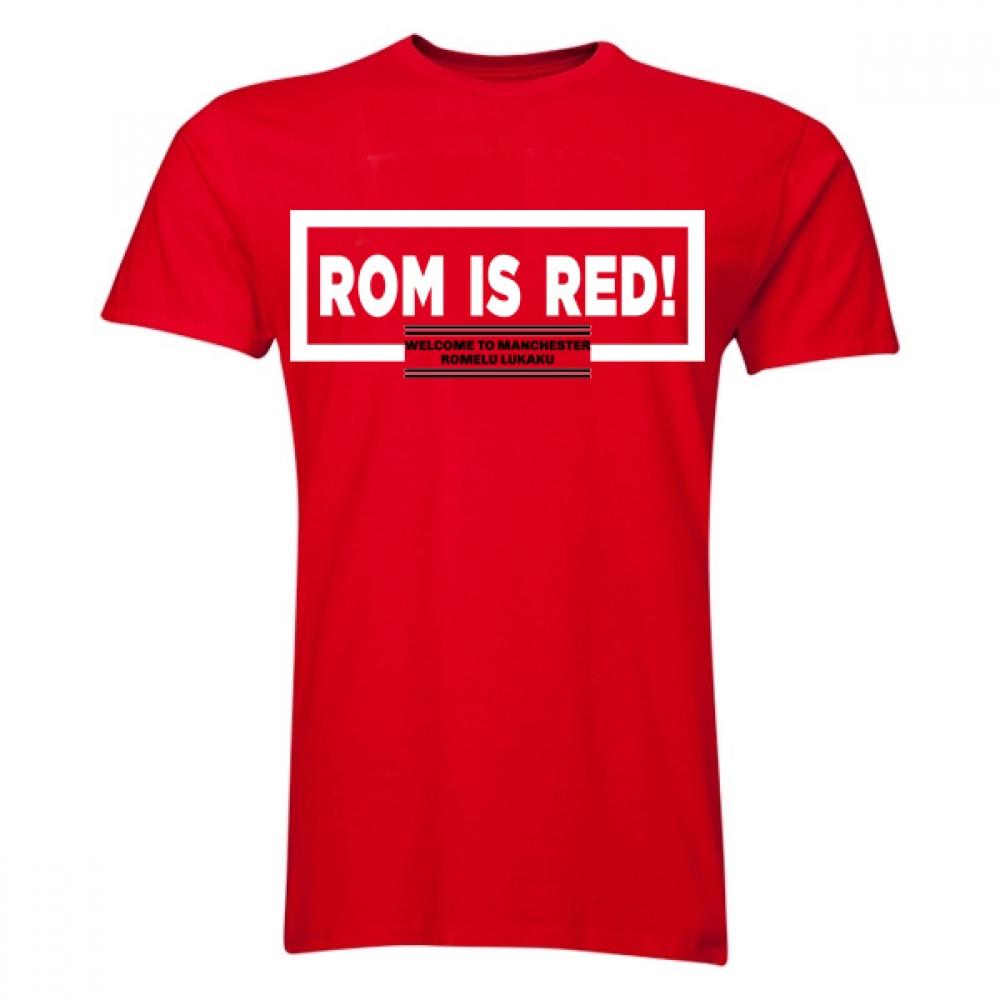 Romelu Lukaku ROM Is Red T-Shirt (Red)