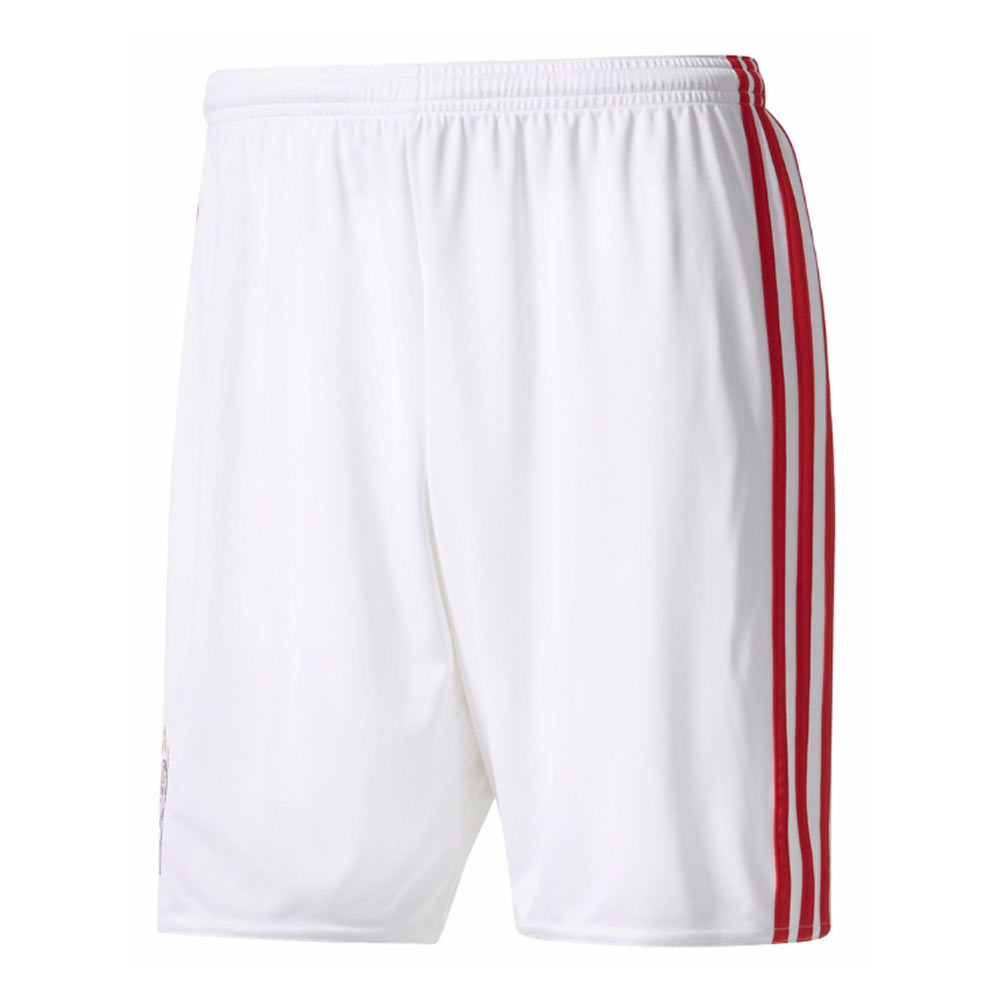 2017-2018 Bayern Munich Adidas Third Shorts (White)