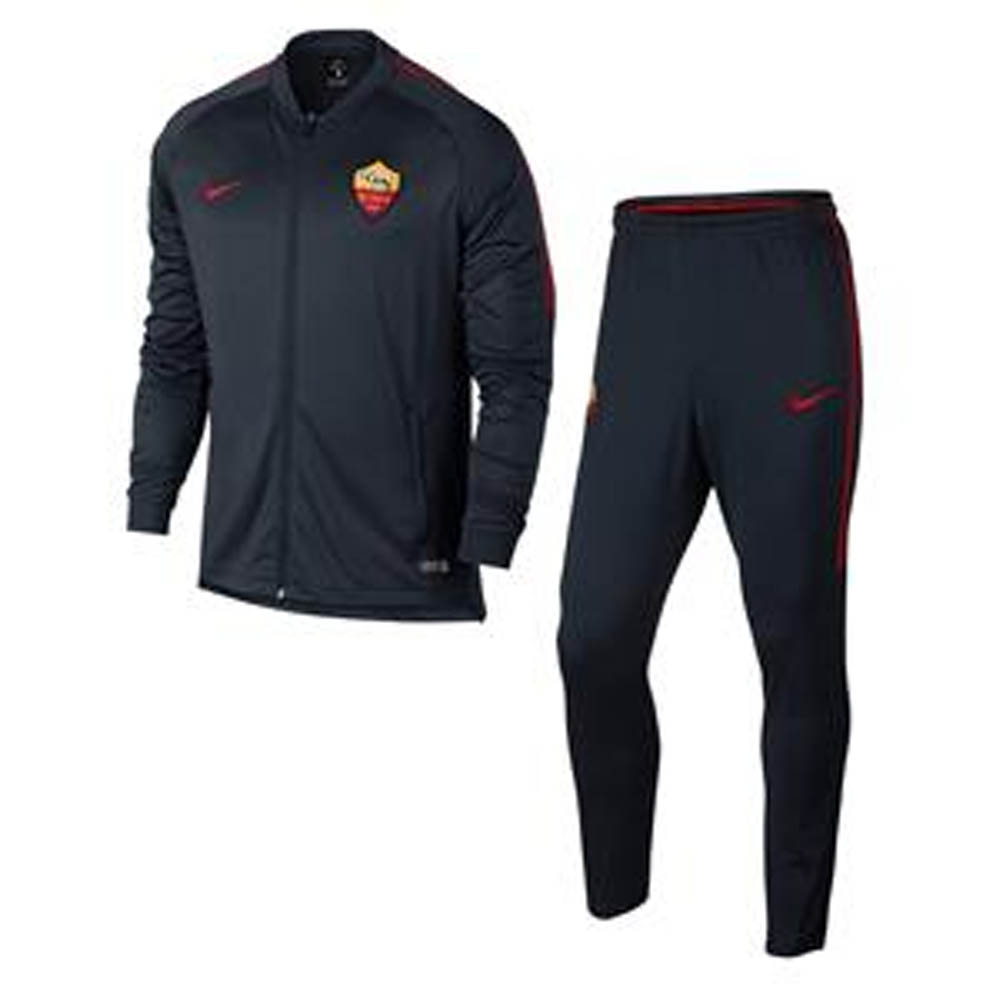 2017-2018 AS Roma Nike Dry Squad Tracksuit (Dark Obsidian)