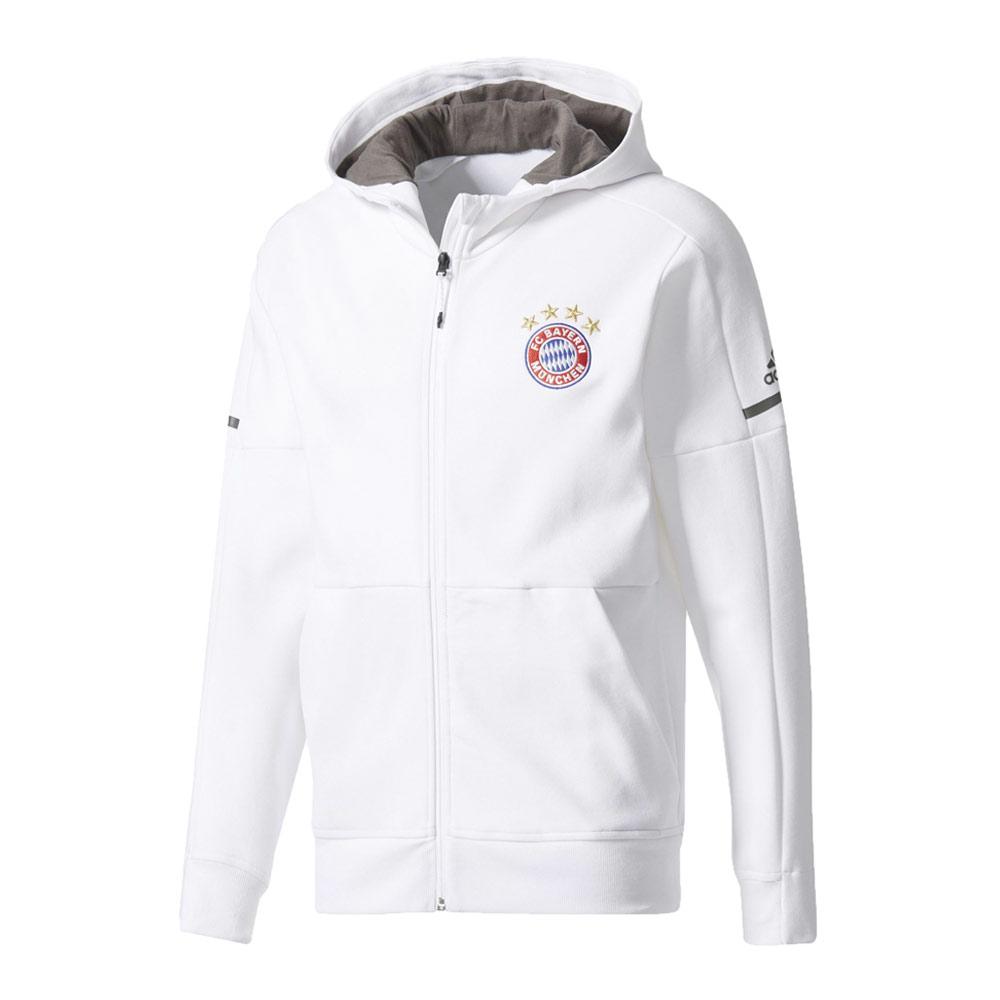 2017-2018 Bayern Munich Adidas Anthem Jacket (White)