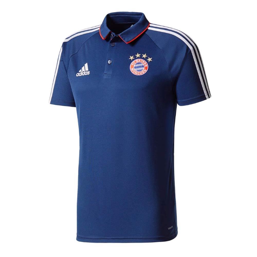 2017-2018 Bayern Munich Adidas Polo Shirt (Navy)