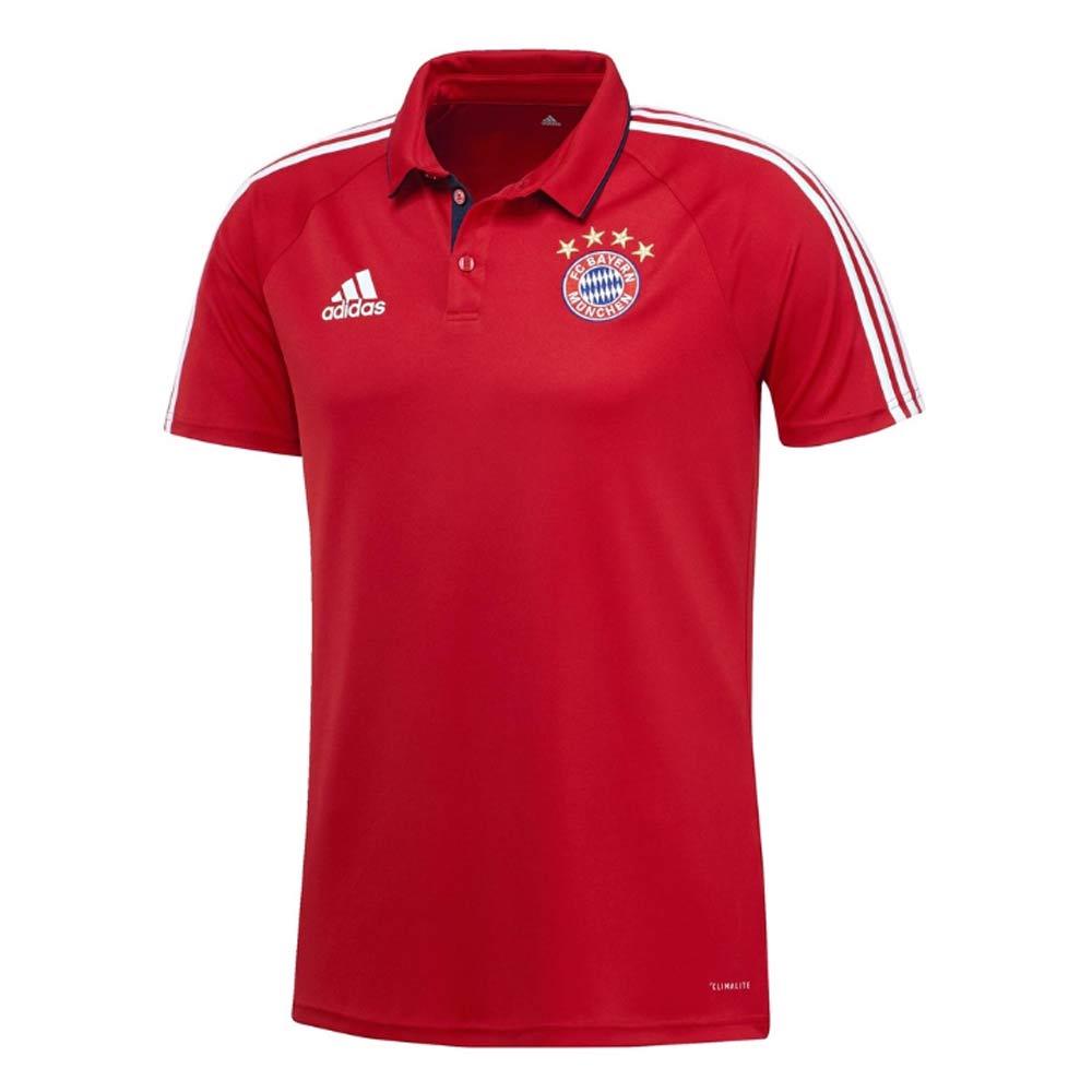 2017-2018 Bayern Munich Adidas Polo Shirt (Red)